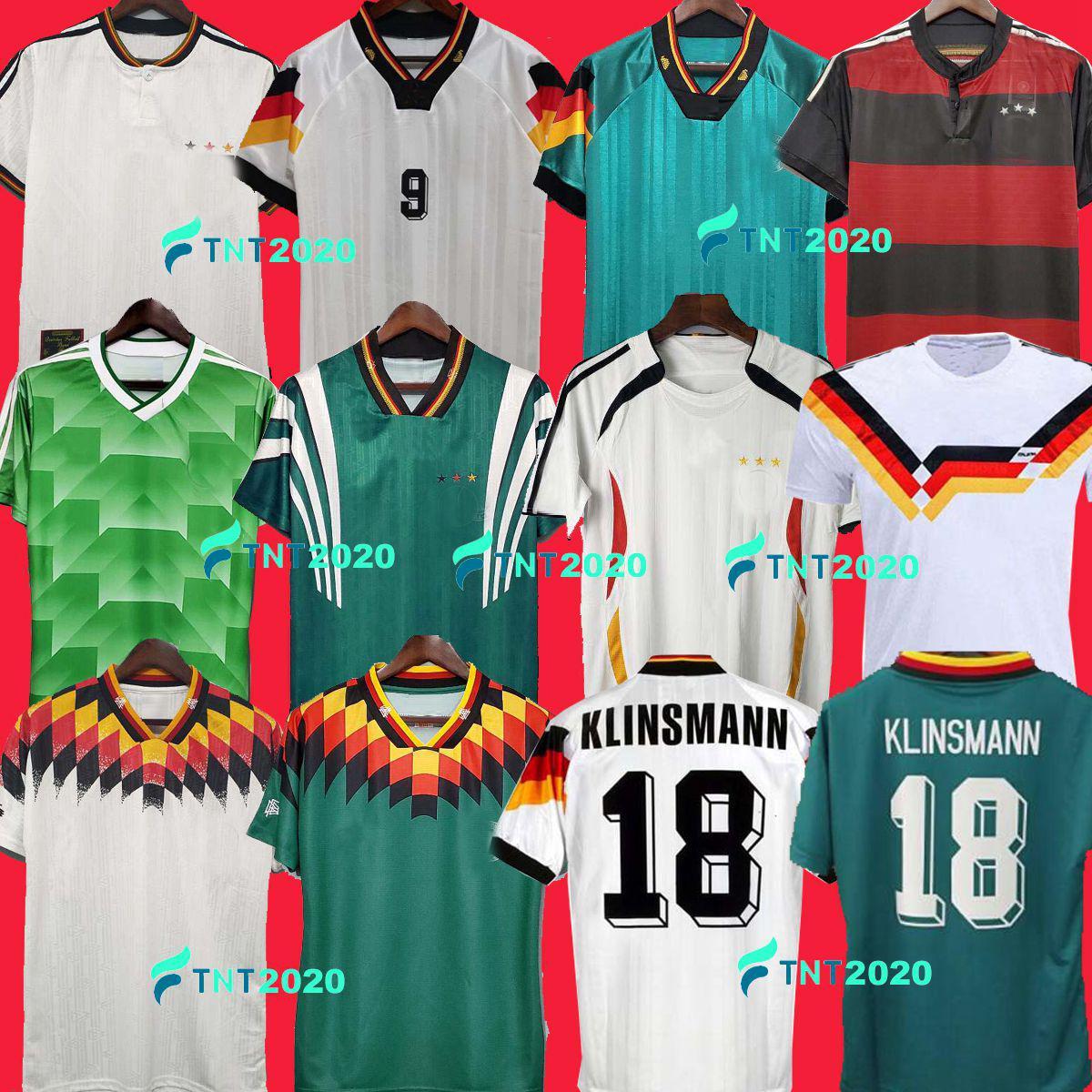 1990 1994 1988 ألمانيا الرجعية Littbarski Ballack Soccer Jersey Klinsmann Matthias 1998 2014 Kalkbrenner Football Shirts 1996 2004 Klose Möller