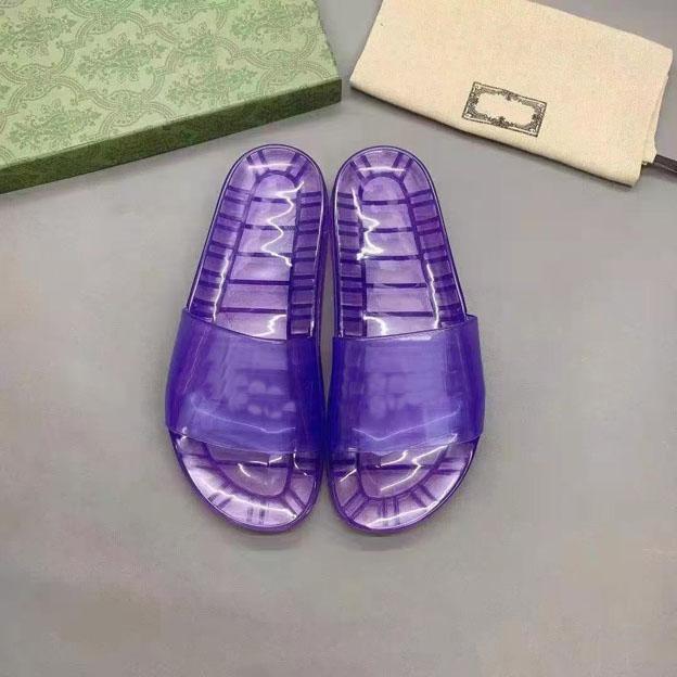 Pantofole in cristallo trasparente con tacco a cristallo Pantofole europee Napa Dream Open Toe Sandali PVC Large 35-47