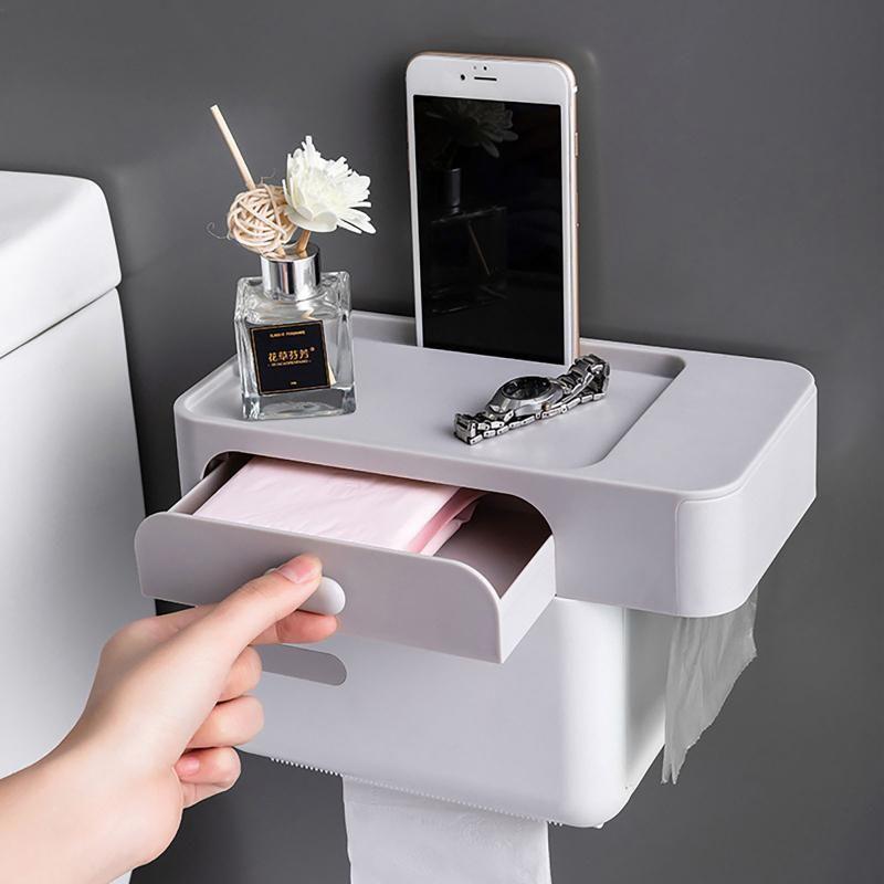 40 # Caja de toalla de papel higiénico con bastidor de luz Bolsa de lavado de tubo de sensor iinteligente impermeable.