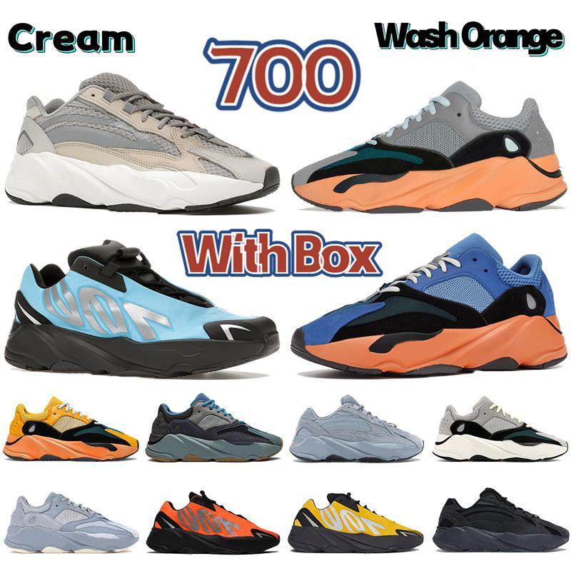 مع صندوق جديد 700 v1 v2 MNVN عاكس مشرق الكربون الأزرق صن التعادل صبغ الصلبة رمادي الرجال احذية الجري النساء أحذية رياضية