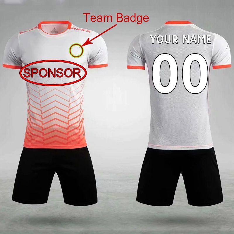 DIY Soccer desgaste personalizado jersey equipe ordem própria logotipos camisas de futebol homens mulheres equipamentos 046