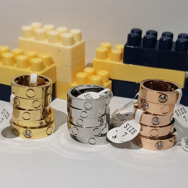 2021 titanio acciaio in acciaio rosa oro cristallo donna gioielli anelli amore uomo promessa anelli per donne donne regalo fidanzamento all'ingrosso