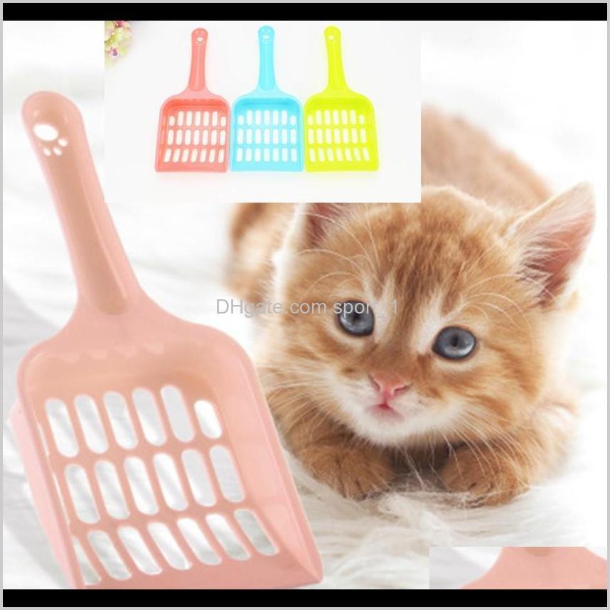 Horno de plástico de plástico Scoop Portátil Cat de limpieza Pala Perro Poop Poop Scooper Fácil Limpie 5 colores para elegir D5ISS 6MBFP