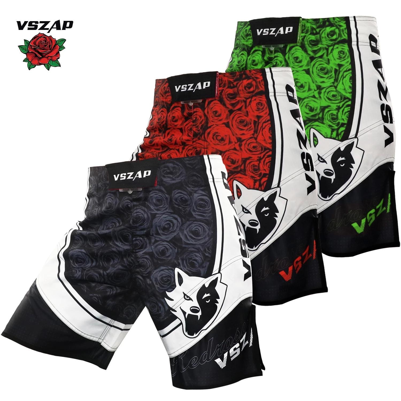 VSZAP Muay Thai Şort MMA BJJ Boksörlerin MMA Şortları, Boks Giysileri MMA Trunks'ı eğitmek için spor salonu şortları savaşmak ve dövüşmek için kullanılır.