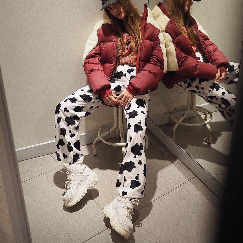 Zebra Animal Imprimir Calças Elegantes Capris Harajuku Cintura Alta Calças Senhoras Escritório Casual Mulheres Streetwear 2021 Mulheres