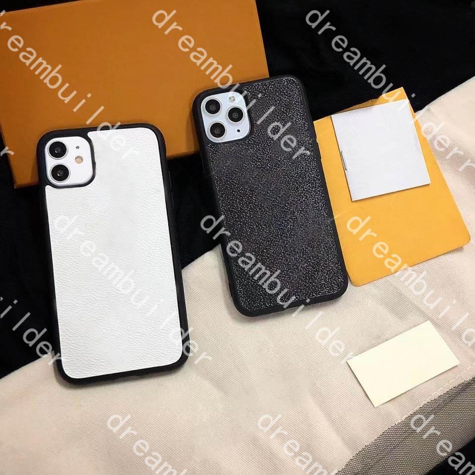 Casi del telefono di modo per iPhone 12 Pro Max Mini 12mini 11 11Pro 11Promax x XS XR XSMAX 7P 8P 7/8 Plus PU Classic Pelle Protection Case Designer Cover con scatola