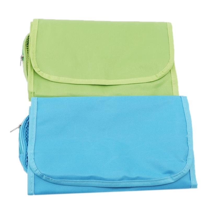 Eyelash Curler Portable Travel Cosmetic Bag With Hook Women Makeup Bags Toiletries Organizer Storage Neceser Hanging Bathroom Wash