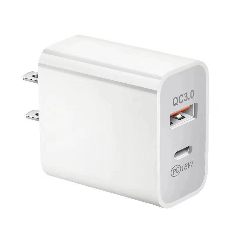 Schnellladegerät QC 3.0 PD 18W für iPhone 12 Typ-C USB-Anschluss EU US UK AU-Plug FACE SAPER-Ladeadapter Wandladegerät für Tablets Handy