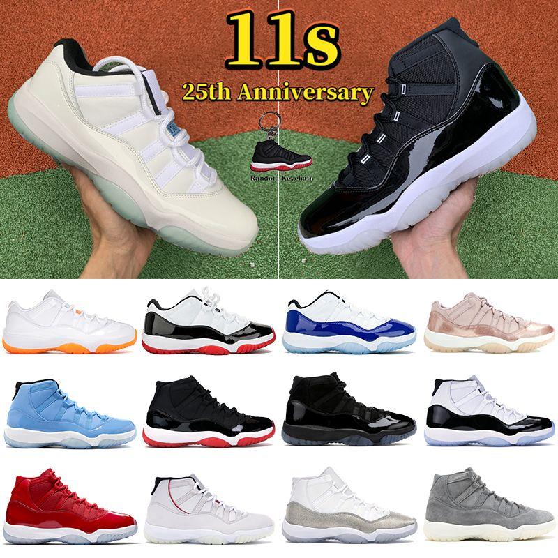Nuevas zapatillas de baloncesto 11 11s Jumpman low legend blue white bred Velvet pinnacle grey Heiress Blue pantone zapatillas de deporte para mujer para hombre