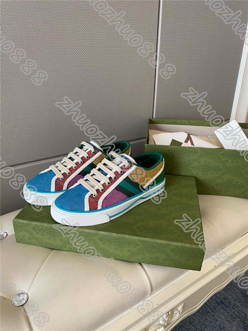 Mujeres y hombres zapatillas de deporte de la zapatilla de deporte zapatos casuales de encaje para mujer, zapatos de plataforma de colores, zapatos planos para caminar con caja de caja 35-45