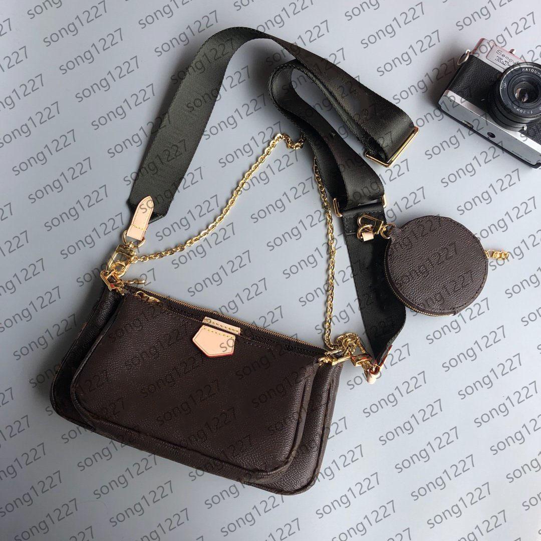 2021 Cross Body Bag Multi Pochette Women 3in1 Sacos Crossbody Ombro Genuine Real Pequeno Suspenso B AG pode ser oblíquo Bac K $e R Voltar