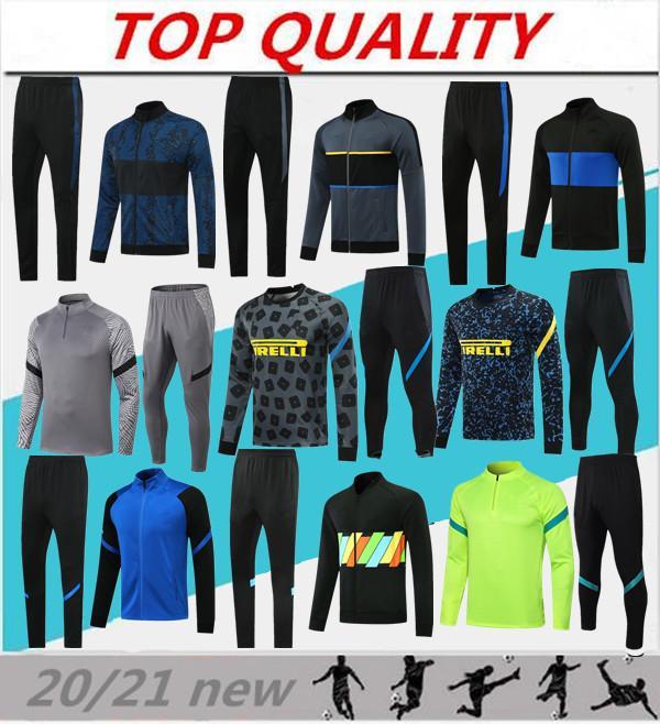 2020 2021 kits de chaquetas de chándal de fútbol del Inter de Milán 20/21 Survetement ALEXIS LAUTARO LUKAKU traje de entrenamiento de fútbol conjunto de chaqueta de chándal