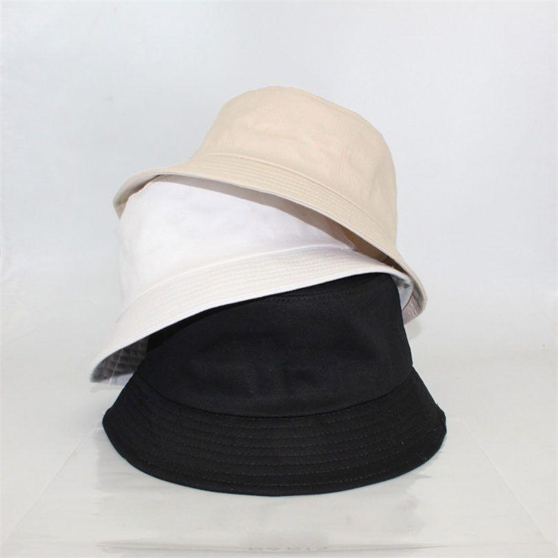 Chapeau de godet de la lettre de la mode pour hommes Bonnets Femmes Bonnets pliables Casquettes Noir Fisherman Beach Chapeaux de soleil Visière Large Bronge Pliant Dames Bowler Casquette