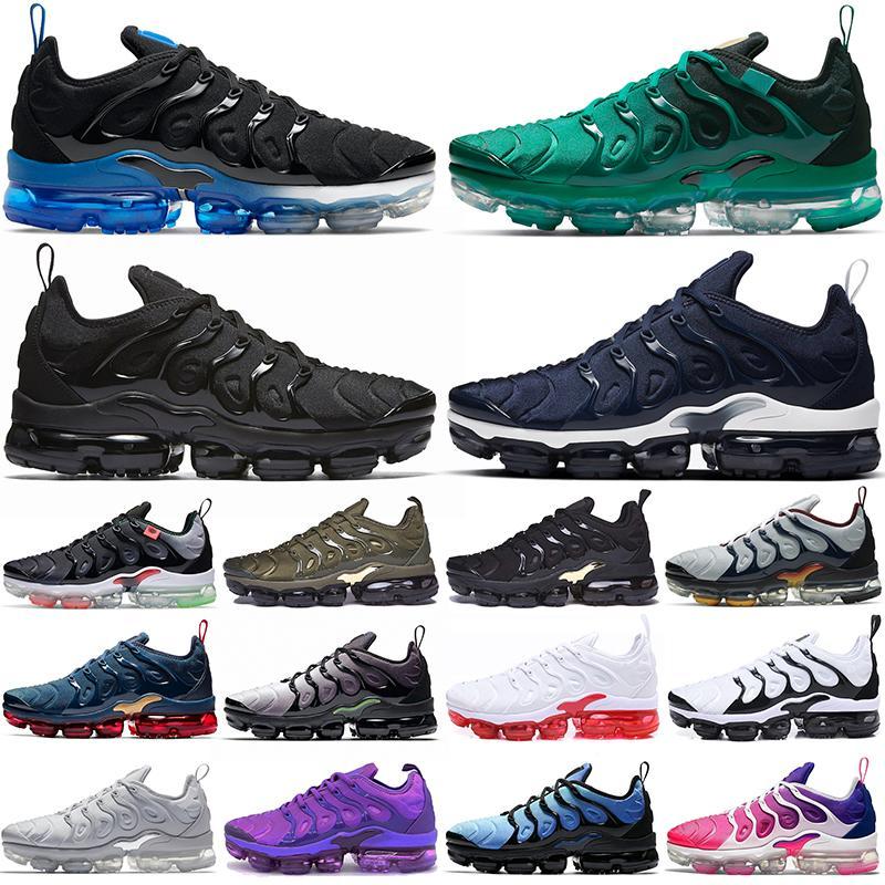 Hotsale Plus TN Мужские кроссовки Black Royal Atlanta Purel Platinum Все красные темно-синие оливковые мужчины Женщины тренеров на открытом воздухе Спортивные кроссовки 36-47