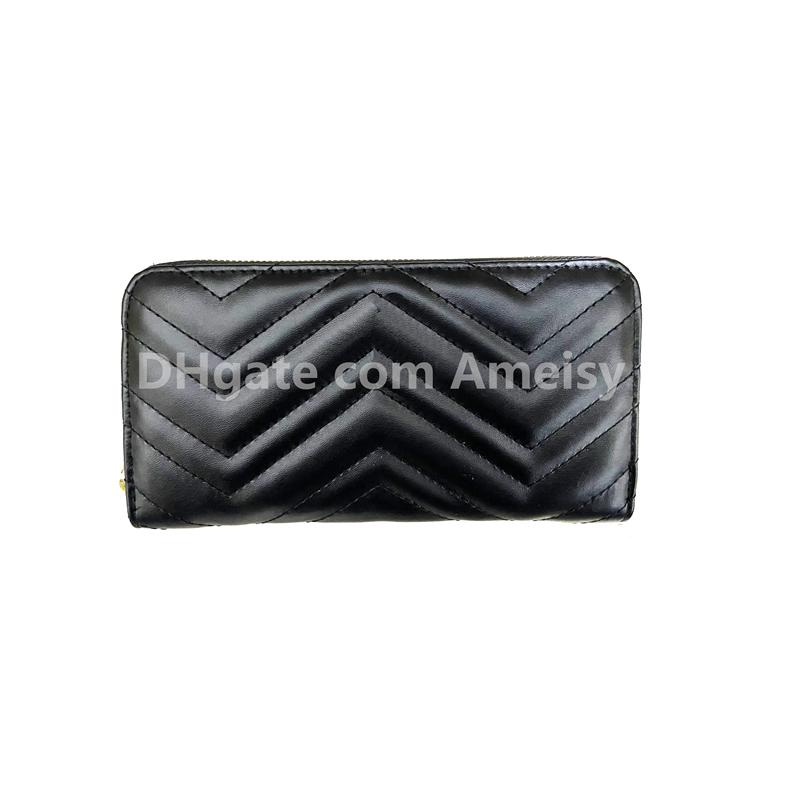 أحدث محفظة طويلة للنساء مصمم محفظة سستة حقيبة السيدات حامل بطاقة الجيب أعلى جودة عملة