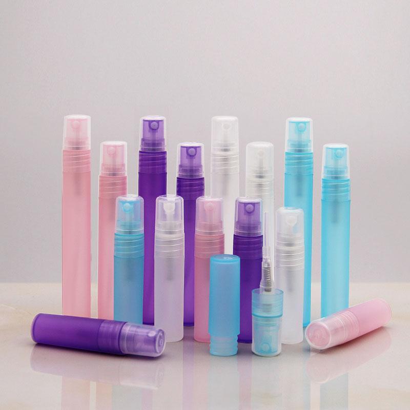 3 5 8 10 мл матовый пластиковый спрей бутылки спреи для спрей для распыления парфюмерия Бутылки мини-образцы пробирки пластиковые флаконы с матовым красочным цветом