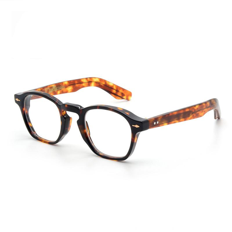 68% de rabais de haute qualité Jacques Rétro Vintage Vintage Cadre acétate carrée ZP25 Hommes Marie Femmes Sunglasses sur mesure Myopie Optique Myopie O4Y8
