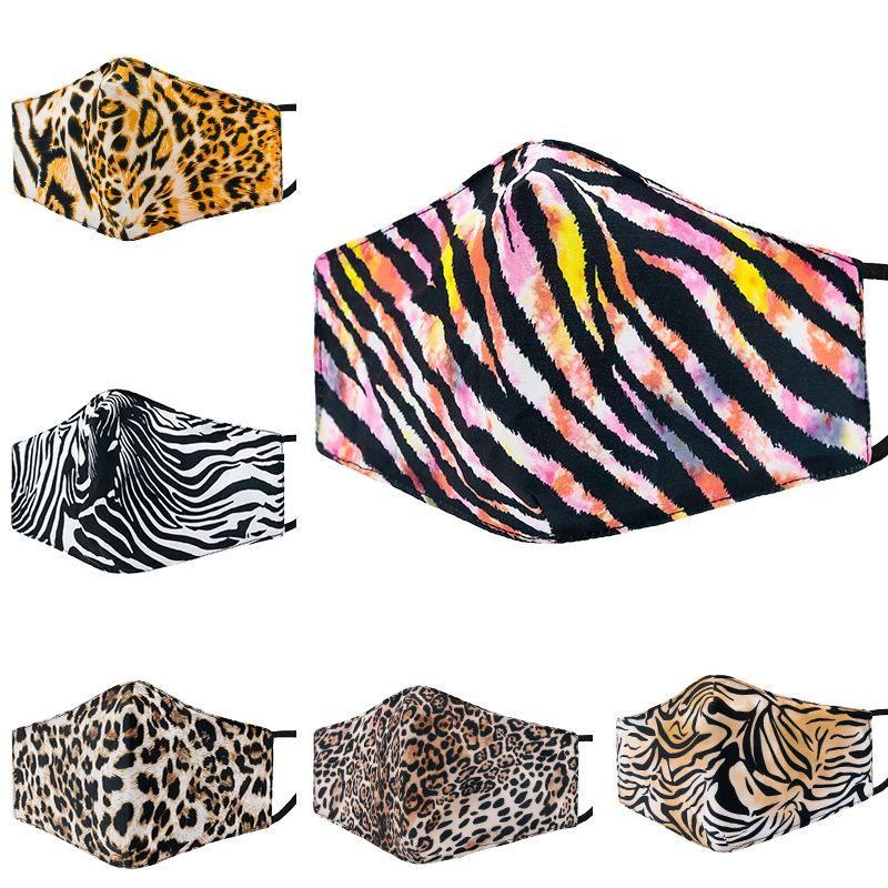 Tasarımcı Maskeleri Kamuflaj Leopar Baskılı Pamuk Yüz Maskesi Moda Yetişkin Yıkanabilir Maske Kış Sıcak Toz Maskesi
