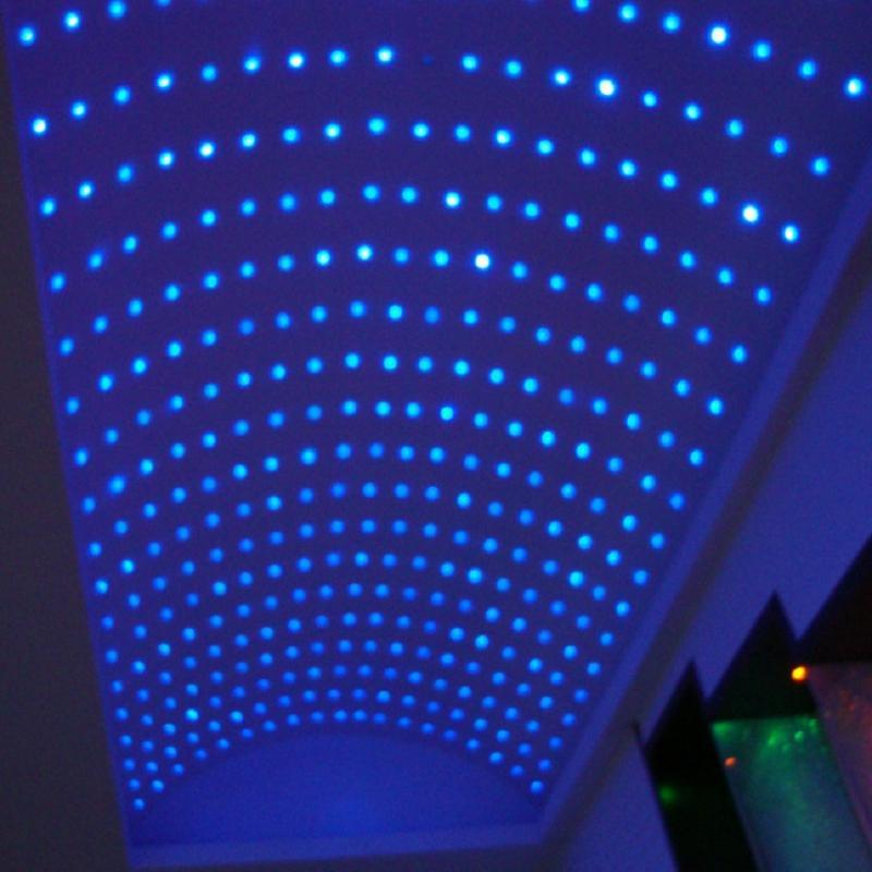 15pcs 0.3w Small Star Decorate Spa Tub Waterproof Rgb Led Light   Ceiling Lamp With 1pcs Controller And 1pc Adpater Lights