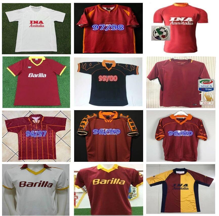 1990 1991 1998 1994 1994 1996 Retro Totti Giannini Soccer Jersey 92 94 95 96 Classic Comemorate Collection Maglia da Calcio
