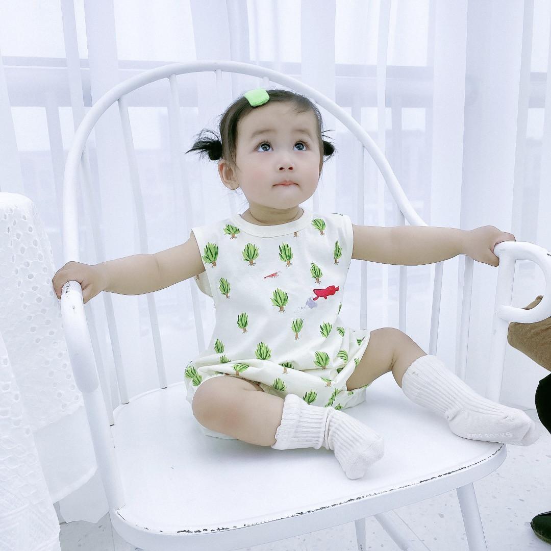 الوليد الطفل بنات الفتيان السروال القصير الصيف لطيف الرضع فتاة طباعة القطن حللا + bib الدعاوى طفل تالفات