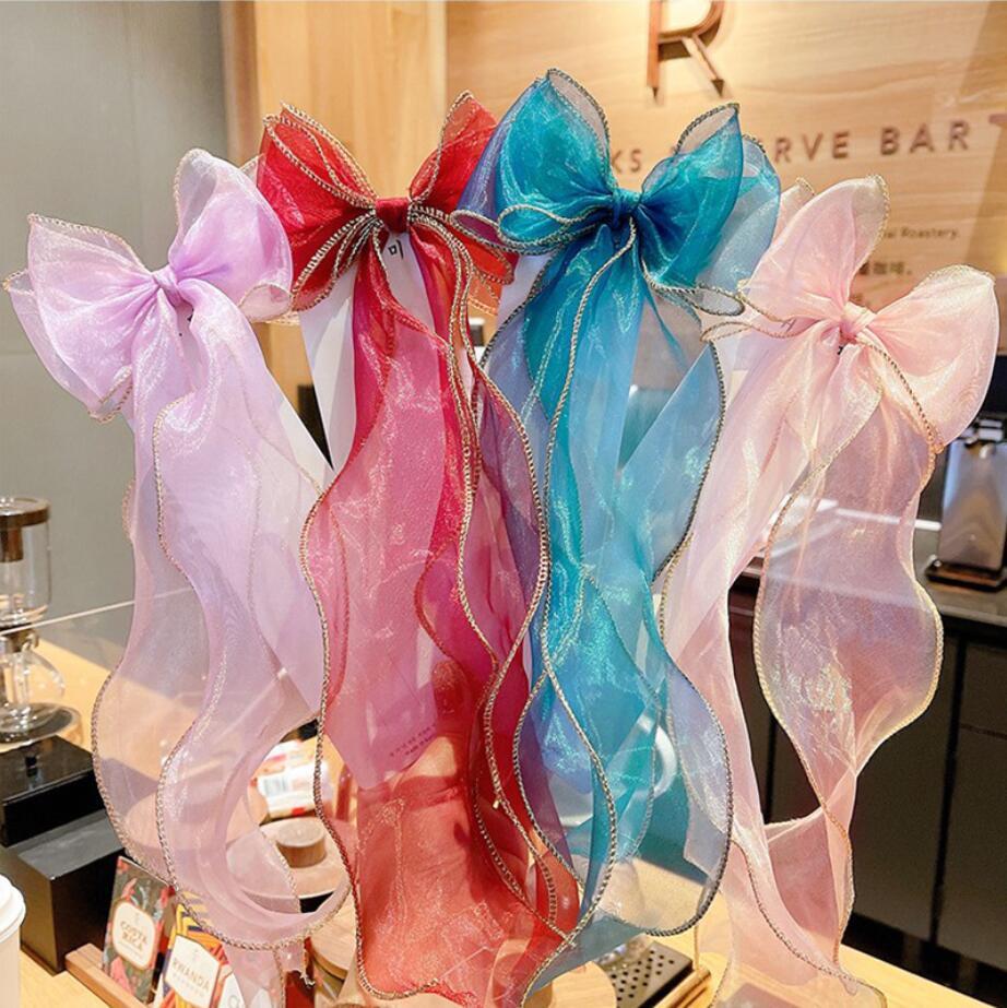 10 estilos Hairband Sólido Color Pelo Bow Girls Accesorio para el cabello Parrettes