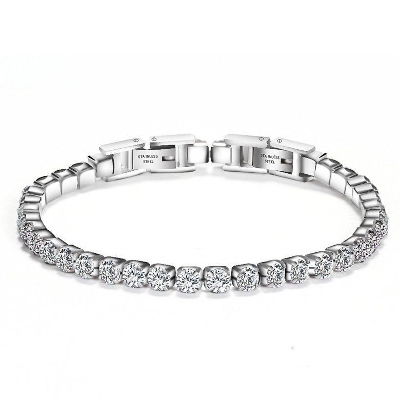 Tennis Bracelets Jewelry 2019 New Fashion High Quality Zircon Women Bracelets Wholesale Brief Stainless Steel Women Bracelets Jewelry LBR041