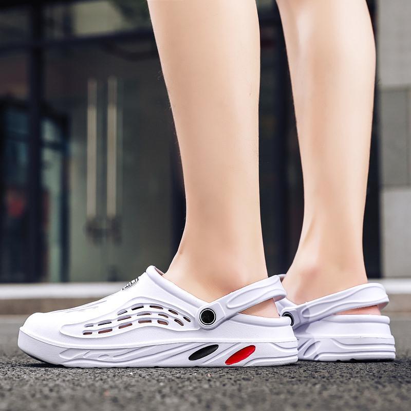 Örgü terlik slaytlar ayakkabı kauçuk uygun sandalet kadın atletik plaj bahar ve yaz hafif köpük açık sonbaharda yürüyüş stokta