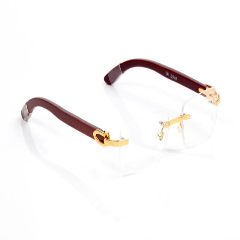 Designer Glass Sunglasses Brand And Wood Men Buffalo Shade Mens Driving Horn Eyewear fashion Nature Rimless Sun Glasses 81339140 Isfjg