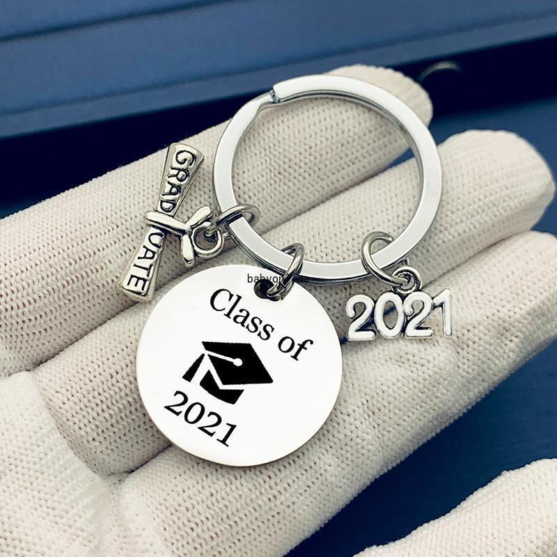 2021 موسم التخرج Seachin الفولاذ المقاوم للصدأ المعلقات المفاتيح مع مشبك التمرير حفل افتتاح كيرينغ هدايا