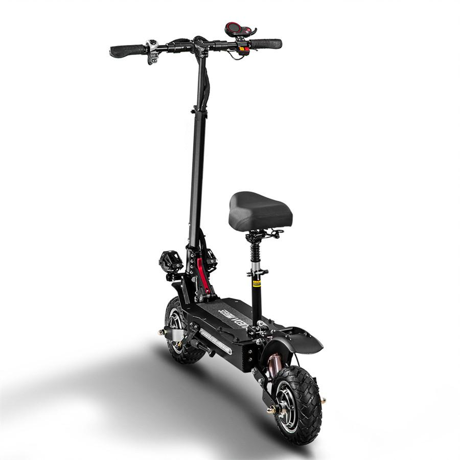 Air transport 10-inch city motorized scooter for adults dual-motor 3200W hydraulic shock absorber vs segway es4