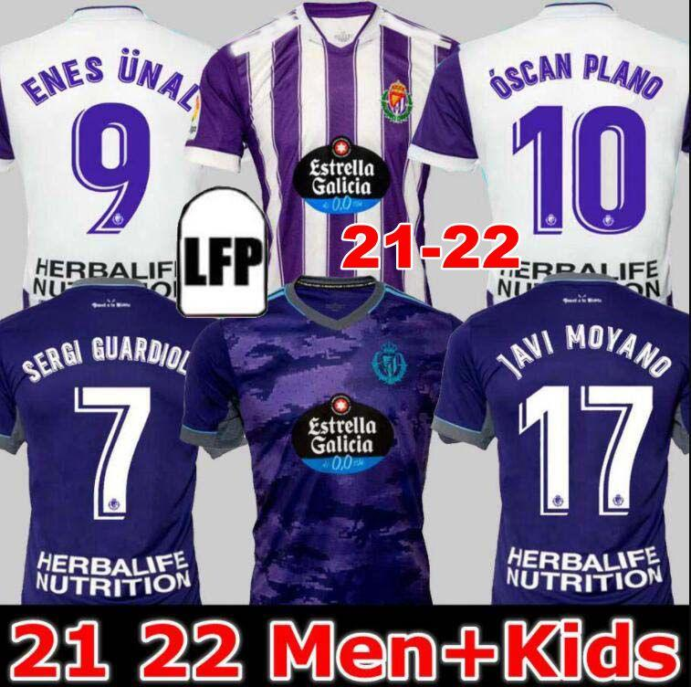 Real Valladolid Futebol Jerseys 21 22 Weissman Fede S. Sergi Guardiola Óscar Plano L. Olaza R.ALCARAZ Marcos Andre Camisetas de Fútbol 2021 2022 Homens Kit Kit Football Shirts