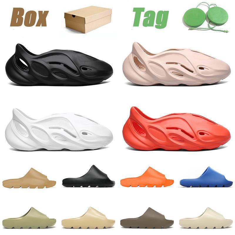 adidas yeezy slipper 2021 Summer Beach Fashion Clog Slipper Foam Runner Designer Hombres Mujeres Kid Enflame Orange Triple Black 450 Resin Earth Outdoor Luxurys Sandals 32-47