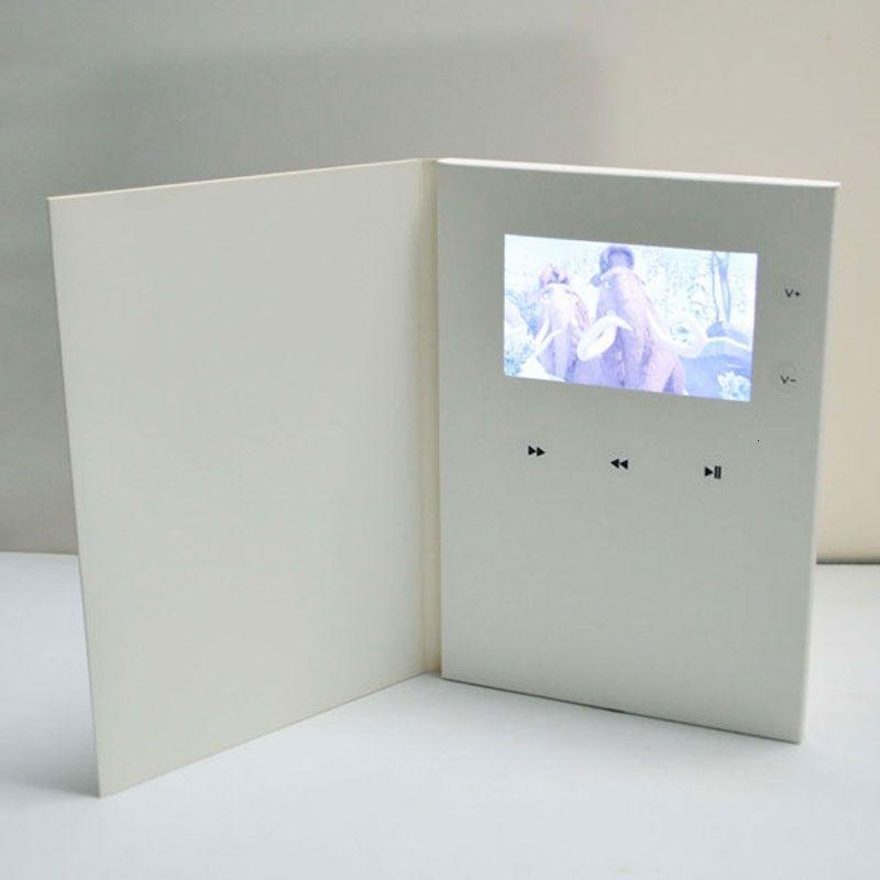 2.8 / 4.3 / 5/7/10 inç Ekran Video Dijital Broşür Özelleştirilmiş Baskı İş ve Noel Düğün Davetiyeleri Tebrik Kartı SH190923