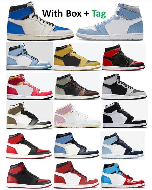 1 ts x fragment Hyper Royal Université Blue Basketball Chaussures Hommes 1S Bred Bred brevet Dark Moka Shadow 2.0 Pollen Patina Paint Pattina Goutte De Peinture Bred Toe Chicago Twist Obsidian Sneakers