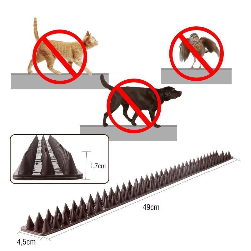 10 adet-paketi Bahçe Kedi Köpek Scat Mat Plastik Thorn Kuş Hırsız Defender Çit Spike Anti Güvercinler Kuşlar 4.5 * 49 cm Taşıyıcılar, Kasalar Evleri