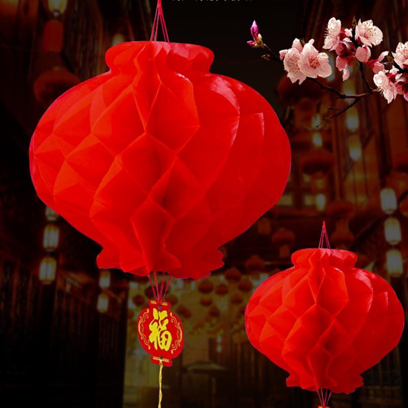 26 cm dia party dekoration kinesiska traditionella festliga röda papper lyktor för födelsedag bröllop hängande leveranser