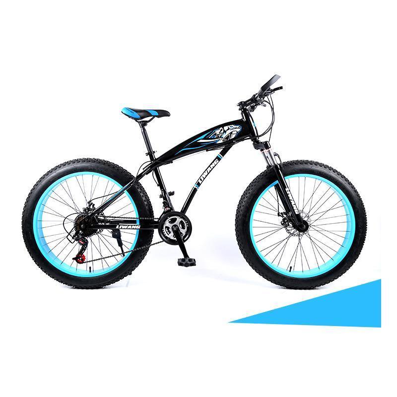 Snowmobiles 24/26 дюймов двойной дисковый тормозной тормозной кадр большие шины горный велосипед 21/24 / 27 скоростных велосипедов
