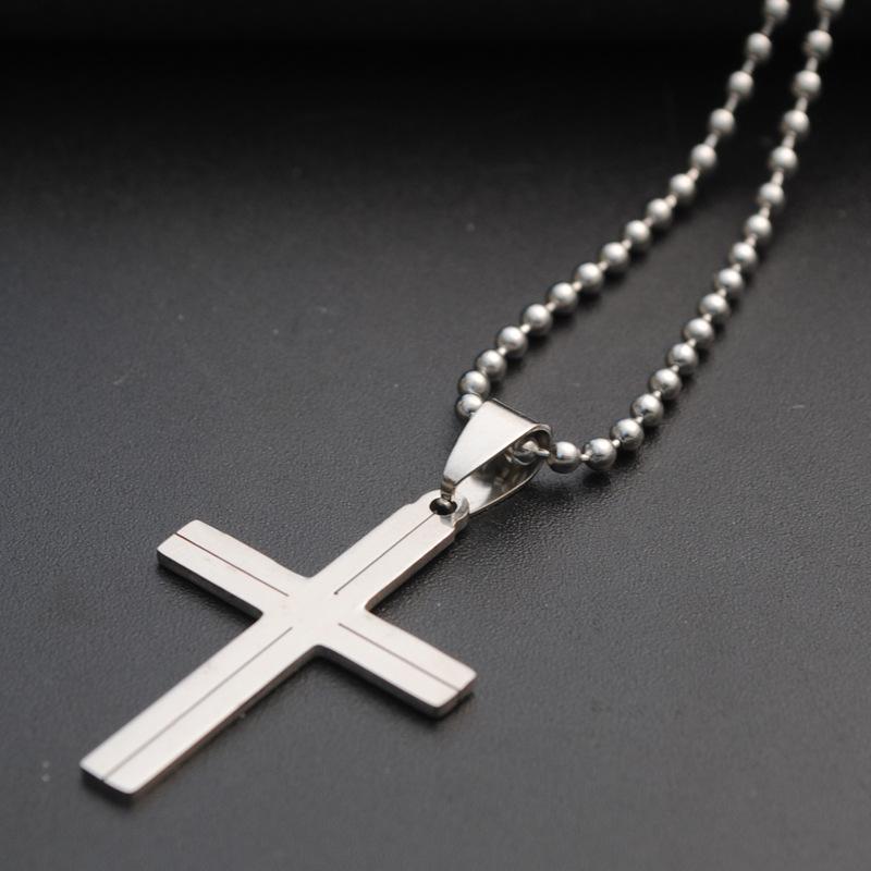 هدية الفولاذ المقاوم للصدأ الحب القلب الصليب نعمة قلادة الديانة المسيحية يسوع الإيمان محظوظ مجوهرات قلادة القلائد