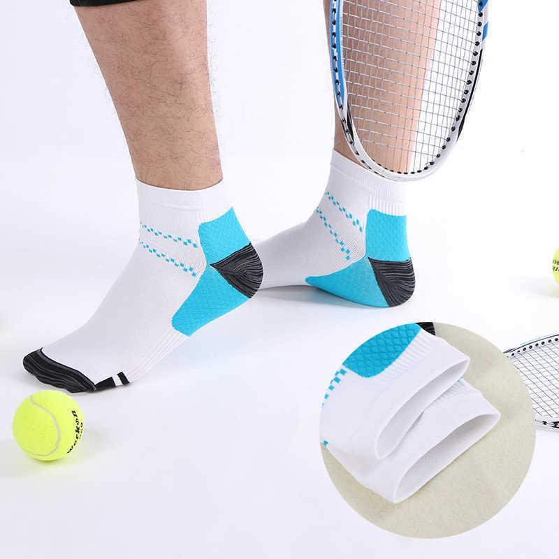 High Quality Foot Compression Socks For Plantar Fasciitis Heel Spurs Arch Pain Comfortable Venous Men Women 4pair/lot H0911