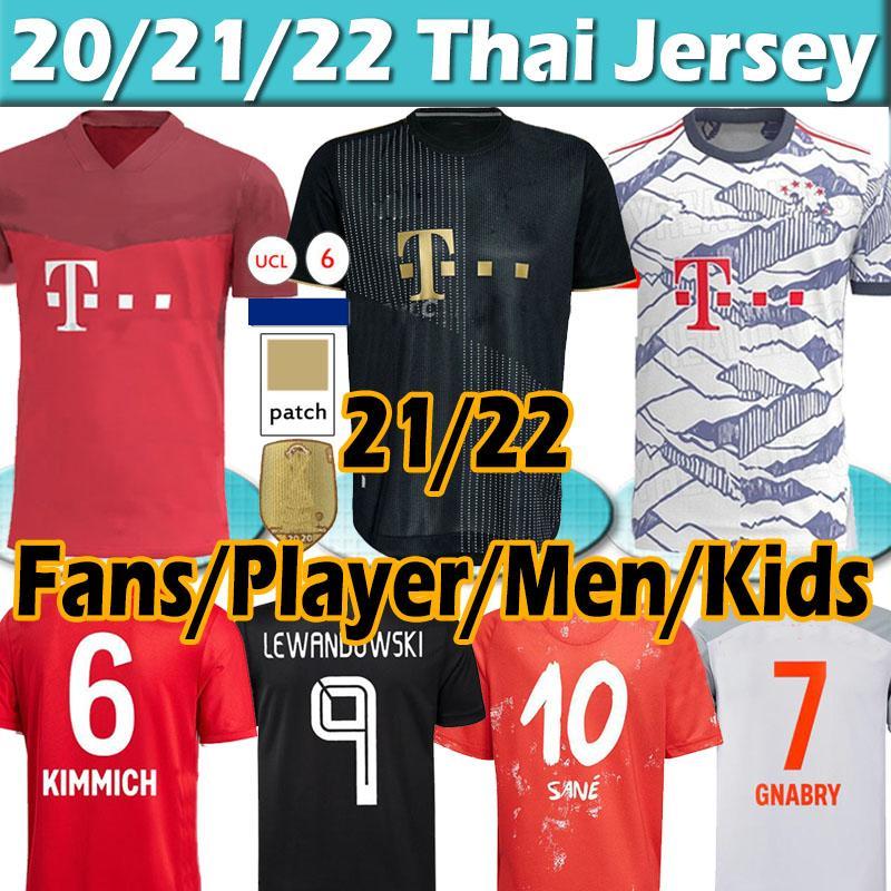 New 21 22 FC Bayern München Fan+Player Version Trikots für Fußball 2020 2021 Munich Sané Fussball Jersey Lewandowski Davies Müller Gnabry Männer Kinder Kit Trikot des Fußballs