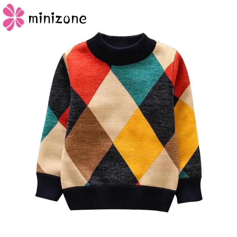Cardigan 2021 O-Neck Boys Sweaters Baby Stripe Plaid Pullover Knit Kids Clothes Autumn Winter Tops Children Boy Clothing
