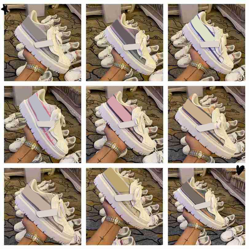 2021 дизайнерские кроссовки наклонные холст женщины мужские мужчины обувь улитки цветные показать высокий низкий кроссовки кожаные мужские повседневные высочайшие качества роскоши тренеров размером 35-41