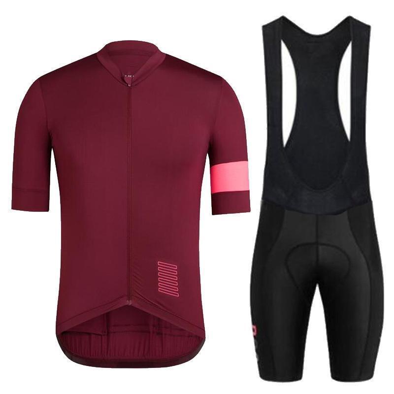 경주는 단순성을 설정합니다. 남성 자전거 저지 여름 통기성 자전거 의류 반팔 안티 UV 프로 팀 유니폼 턱받이 바지 MTB 슈트