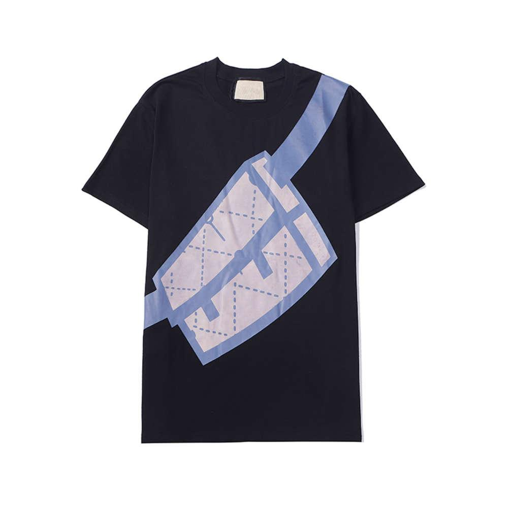 Moda Mens T Shirt Camicia Estate Camicia Gru Designer Hip Hop Luxurious Men Donne Manica Tees Dimensione W669