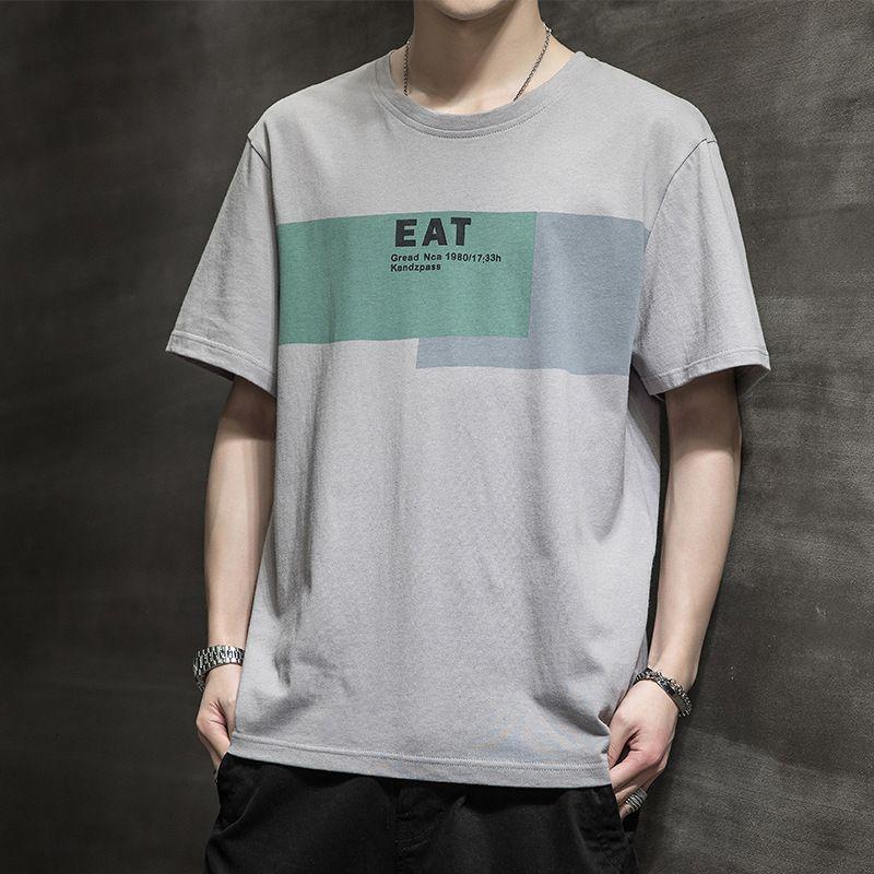 100 Breve di cotone 2021 New Brand T-shirt Fashion Summer Half Sleeve Shirt Multi Color Matching