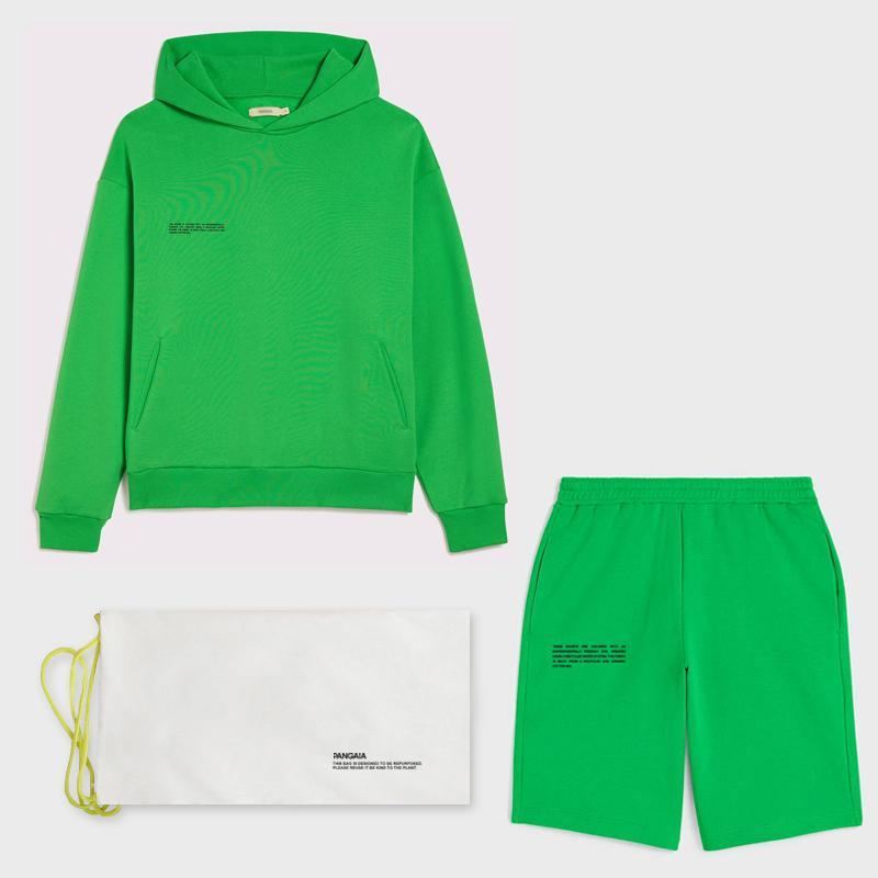 Hafif Kapüşonlu Tişörtü Hoodies Ter Uzun Şort Joggers Kadın Eşofman Iki Parçalı Setleri Fransız Terry Sweatsuits Kıyafetler Kadınlar
