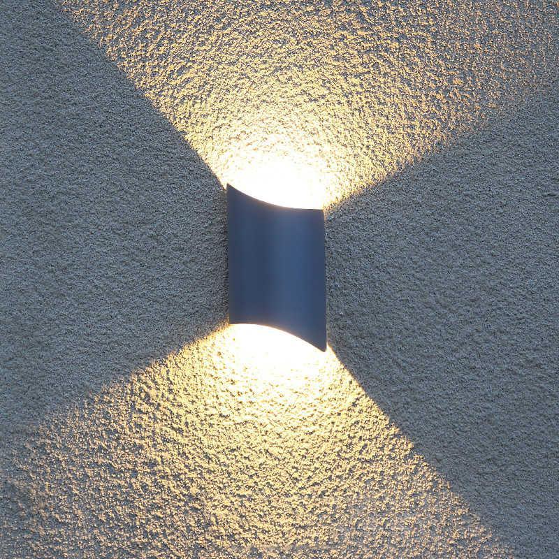 방수 야외 벽 램프 블랙 / 그레이 방진 발코니 Sconce 주거용 빌라 커뮤니티 Eclairage Exterieur