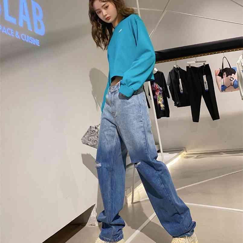 S-2XL 겨울 벨벳 두꺼운 똑바로 넓은 다리 여자 바지 가을 streetwear 세련된 바지 여성 높은 허리 플러스 크기 느슨한 210423