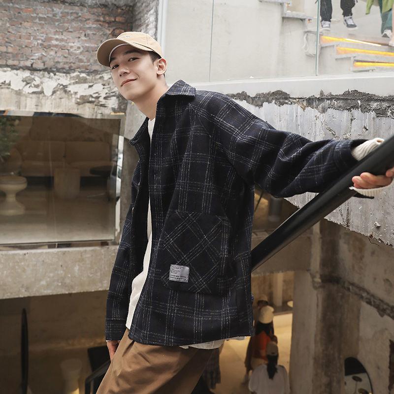COMPAÑAS DE LANA DE HOMBRES NEWLOHA Abrigo de lana suelta Harajuku Mujer de estilo Harajuku Cálido espesante Moda Chaquetas Vintage Masculino Extranjero 2021 Ropa